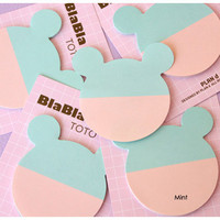 PlanD BlaBla toto bear face sticky memo notes