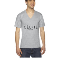 Celfie - V-Neck T-shirt