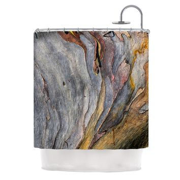 "Susan Sanders ""Milky Wood"" Gray Brown Shower Curtain - Outlet Item"