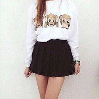 Monkey Print Sweater
