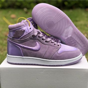 "Air Jordan 1 ""Satin"" Purple Women Sneaker Shoe 36-40"