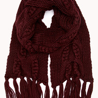 Favorite Cable Knit Scarf