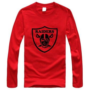 New Fashion Famous Brand Raiders Men Long Sleeve T Shirts No Pilling No Deformation Men T-shirt Tops Designer Tee Men Clothing