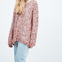 Ecote Popcorn Jumper in Orange - Urban Outfitters