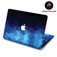back cover decal mac pro decals stickers sticker Apple Mac laptop vinyl 3M surprise gift for her him beautiful 碎块2-065