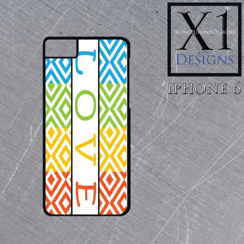 LOVE Iphone 6 Case Iphone Cover Colorful Iphone Case Blue Iphone case Green Iphone case red Iphone Case Yellow Iphone Case