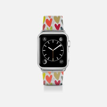 confetti hearts transparent apple watch band Apple Watch Band (38mm) by Sharon Turner   Casetify