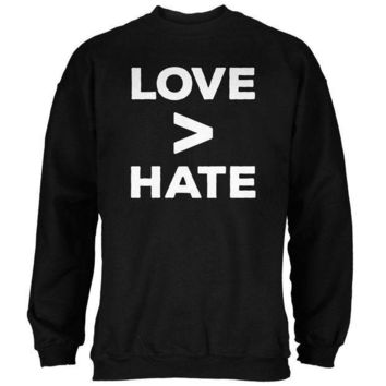 ICIKIS3 Activist Love is Greater Than Hate Mens Sweatshirt
