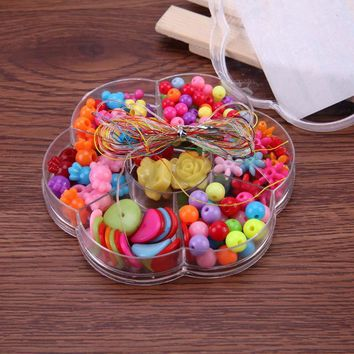150Pcs Acrylic Mixed Beads Sets for Children DIY Jewelry Chain Bracelet Making Accessories Handwork Puzzle String Beads Toy