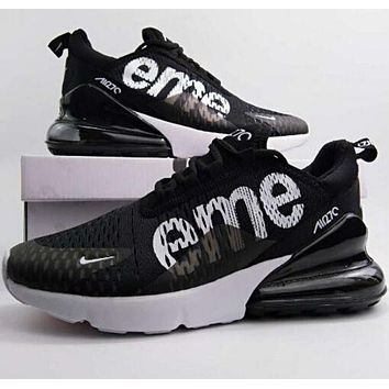 Supreme x Nike Air Max 270 Running Sneakers Sport Shoes