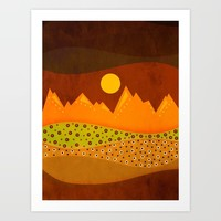 Color/Landscape 9 (By vivigonzalezart) Art Print by vivigonzalezart
