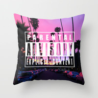Explicit :) Throw Pillow by Pink Berry Patterns