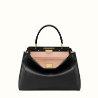 FENDI | REGULAR PEEKABOO handbag in black leather