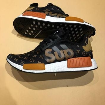 LV Supreme  Louis Vuitton   adidas NMD R1 Boost Sport Casual Shoes Sneakers