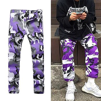 2017 Men/Women Pants Cotton Pockets Cargo Casual Work Trousers Army Military Camouflage Overalls Camo Combat Plus Size