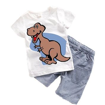 Children Kids Suits Summer 2017 New Cartoon Baby boys clothes Toddler boy clothing sets Character Kids clothes Cute Animal T15