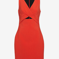 Robert Rodriguez Tech Suiting Cut Out Dress | Shop IntermixOnline.com