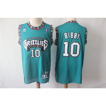Memphis Grizzlies 10 Mike Bibby Retro Basketball Jersey