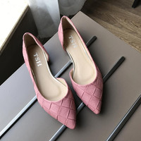 Blue Gray Black Pin fashion  Women's shoes comfortable flat shoes New arrival flats  -603-6-  Flats shoes large size Women shoes