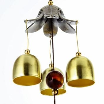Hanging Wind Chime Bell Chinese Oriental Lucky Metal Pagoda Feng Shui Brass Buddha Elephant Spitor Fortune Lijiang Style