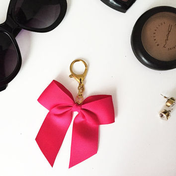 Cheer Bow Key Chain  |  Bow Planner Charm  |  Planner Decoration  |  Planner Accessories  |  Purse Charm