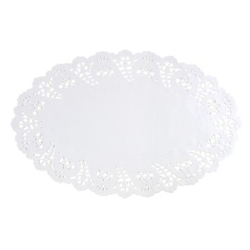 White Oval Lace Doilies, 12-1/2-Inch, 20-Count