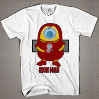 IRONMAN MINION  Mens and Women T-Shirt Available Color Black And White
