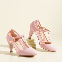Romance on Air Heel in Blush | Mod Retro Vintage Heels | ModCloth.com