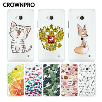 CROWNPRO Soft Silicone Coloured Drawing Case For Nokia Microsoft Lumia 640 Cover Back For Nokia 640 Phone Cases