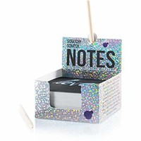Holographic Scratch Off Mini Notes + 2 Stylus Pens Kit: 150 Sheets of Holographic Scratch Paper for Kids Arts and Crafts, Plane or Travel Toys - Cute Unique Gift Idea for Kids, Girls, or Anyone!