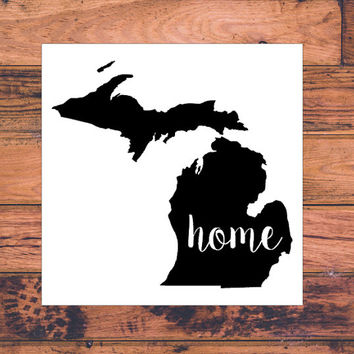 Michigan Home Decal | Michigan State Decal | Homestate Decals | Love Sticker | Love Decal  | Car Decal | Car Stickers | 114