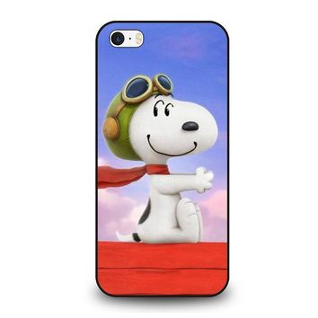 snoopy dog iphone se case cover  number 1