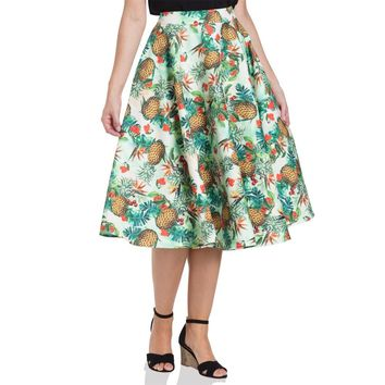 Sammy Tropics Print Flair Skirt