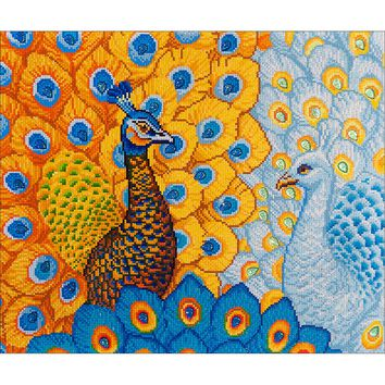 "Romantic Peacocks Diamond Dotz Diamond Embroidery Facet Art Kit 31.5""X25"""