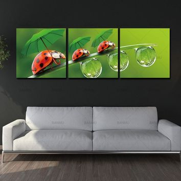 Canvas Wall Paintings Art Pictures Print Oil  Modular Painting On Flower Bilder Modern 3 Piece Decoration Maison Home no frame