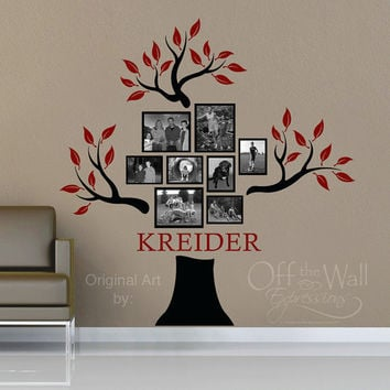 Personalized Family Tree Vinyl Decal by OffTheWallExpression