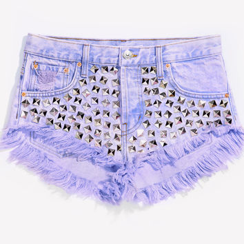 Wunderlust Princess Studded Babe Cut Off Shorts