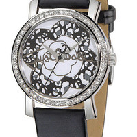 Just Cavalli Moon ladies watch in black leather