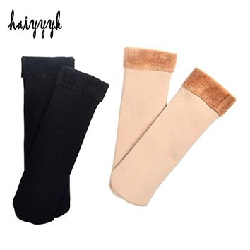 2 Pairs Fashion New Arrival Women's Socks Autumn And Winter Socks Women Thick Plus Fluff Warm Compression Funny Socks
