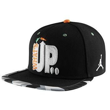 Nike Men's Air Jordan Retro VII Whats Up Jock Strapback Cap One Size Black
