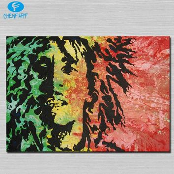 Bob marley Painting wall picture Abstract Art wall painting for home decor ideas print on canvas oil painting No Framed
