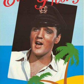 Elvis Presley Tropical Portrait 1986 Poster 25x35