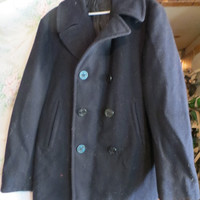 AUTHENTIC  US Navy 70s vintage  DB Melton Wool Peacoat Pea Coat 38  by Pembroke