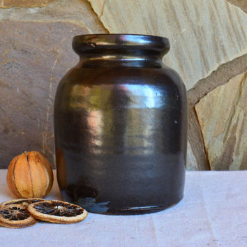 Vintage Canning Jar - Antique 1800's Canning -  Early American Pottery - Rare Antique Crock – Primitive Crock –Antique Crock - Farmhouse