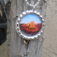 Handmade Scripture Jewelry,Faith,Mark 1:23,Bottle Cap necklace,scripture necklace