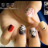 Luxe Designer Piggies nail art decals by CynthiaDesignsStore