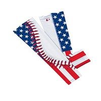 USA Flag Baseball Lace Arm Sleeve S/M 2-Pack