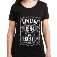 Vintage Aged Of Perfection 31st Women Tshirt