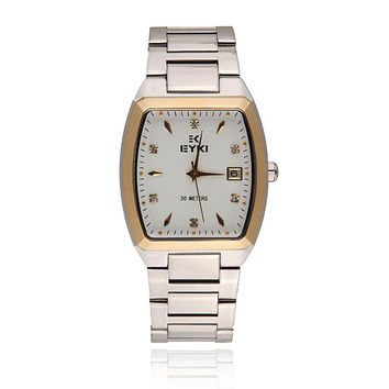 EYKI EETS8591AG Men Week Calendar Steel Band Quartz Watch