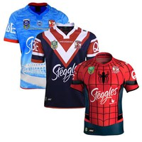 Free shipping!NRL National Rugby League top quality 2017 Australia Sydney Roosters Rugby Jerseys 9S rugby shirts Roosters Jersey size S-3XL